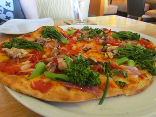 Califonia Veggie Pizza (thin crust, no cheese) at California Pizza Kitchen