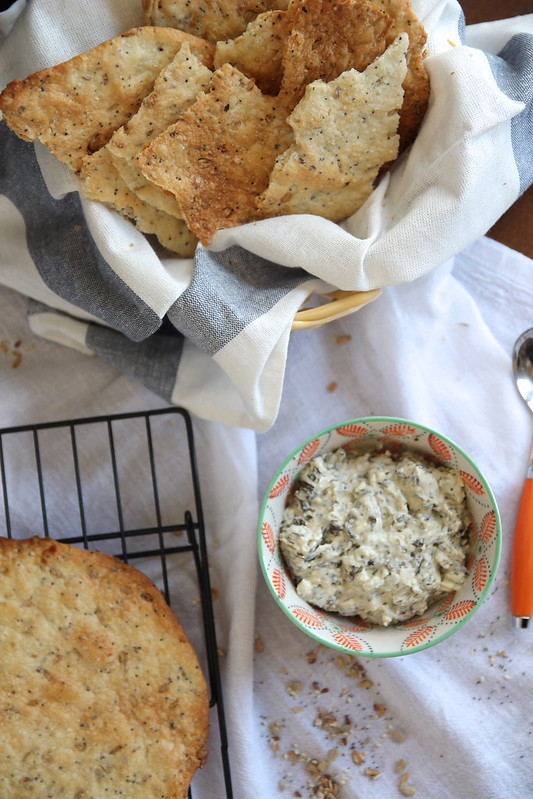 Seeded Flatbread Crackers