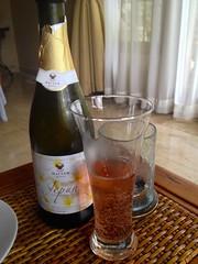 Finishing the sparkling wine