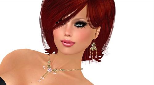 118-Silk print & Jewelry set