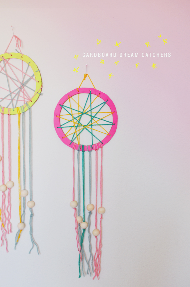 cardboard dream catcher