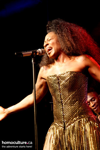 HomoCulture.ca posted a photo:	Jully Black performing at World Pride 2014 in Toronto
