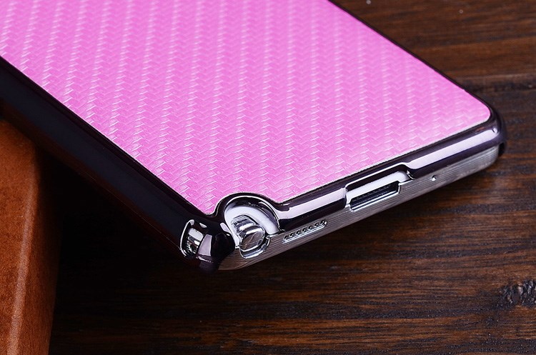 for samsung galaxy note iii 3 n9000 carbon fiber leather