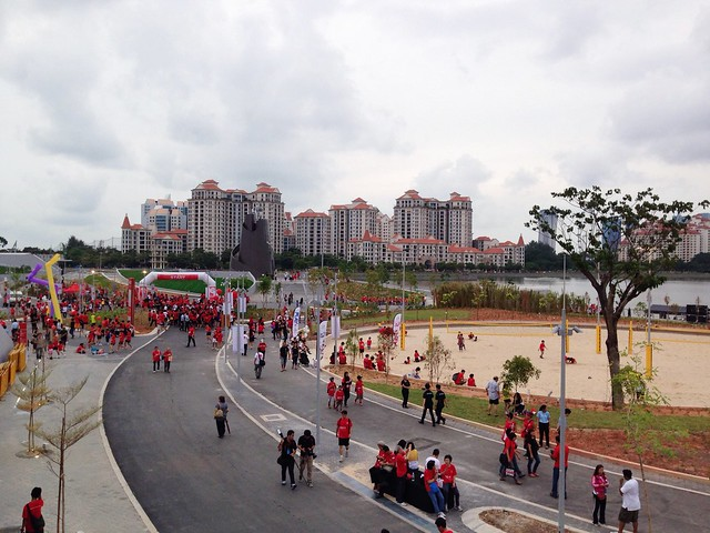 Scenery, community event; Singapore Sports Hub