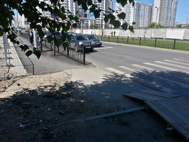 Велодорожка на Циолковского / Сycle track on Ciolkovsky str.