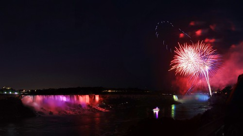 show blue light summer fall water colors up june night waterfall rainbow long exposure colours veil view fireworks dusk side firework canadian niagra falls american waterfalls hour horseshoe lit bridal friday viewing nite 2014
