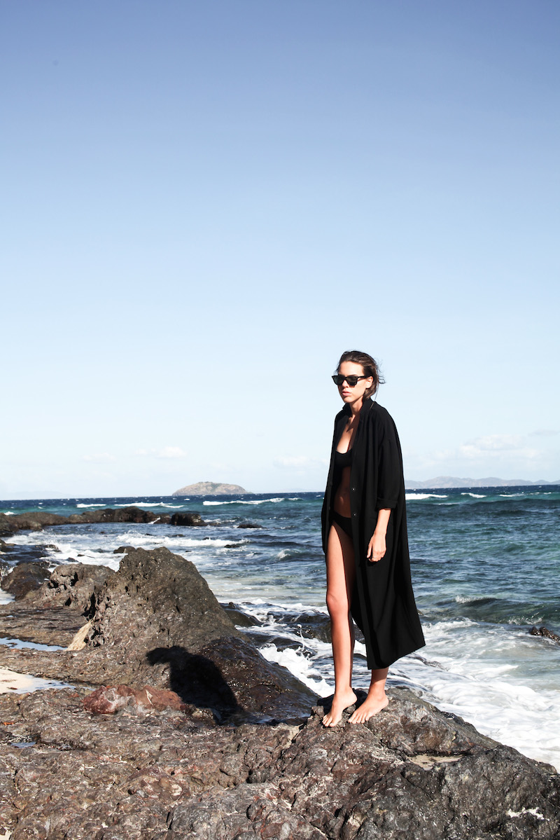 modern legacy fashion blog neoprene bikini ASOS duster coat ocean beach holiday fiji island (7 of 13)