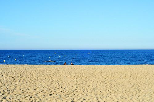 Südfrankreich Meer Mittelmeer Strand Sand Sandstrand Sonne