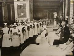 Liverpool Royal Infirmary nurses carol singing 1930s