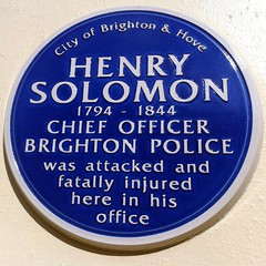 Photo of Henry Solomon blue plaque