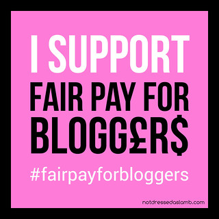 Fair Pay For Bloggers button