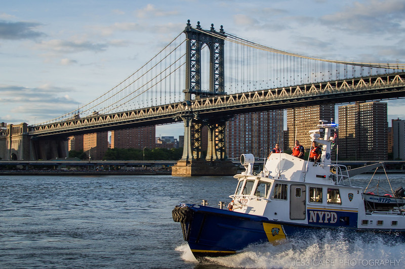 NYPD Boat on East River for Fourth of July