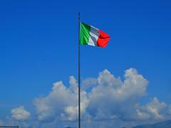 Lanzo d'Intelvi, bandiera sulla Sighignola (balcone d'Italia) - Luglio 2014