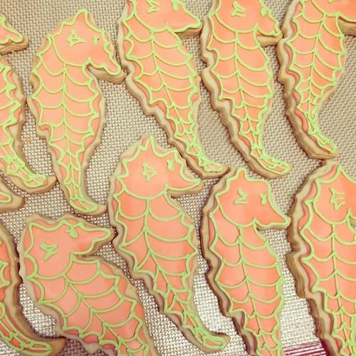 Sea horse sugar cookies #polkadotscupcakefactory