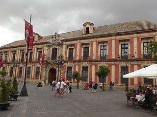 Image of Palacio Arzobispal. sevilla spain day cloudy seville espana andalusia archbishopspalace sevillecathedral palacioarzobispal no8do southofspain plazavirgendelosreyes