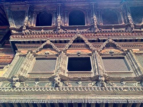 Kathmandu architectural detail. Insane woodworking skills