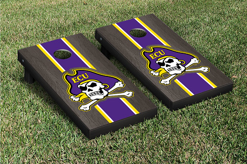 East Carolina University ECU Pirates Cornhole Game Set Onyx Stained