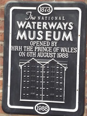 Photo of Charles and Llanthony Warehouse black plaque