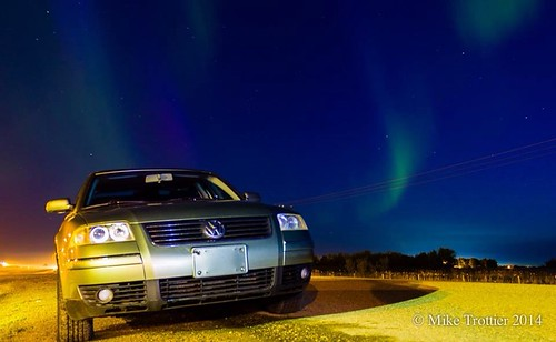 Volkswagen and northern lights!