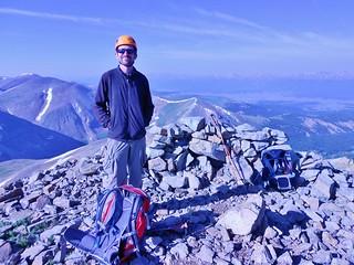 Bobby on Summit of Dyer Mountain