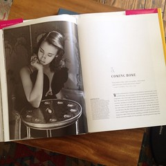 So much visual inspiration in this book, the World of Gloria Vanderbilt. What an interesting, prolific, creative woman. And her sense of personal style is incredible.
