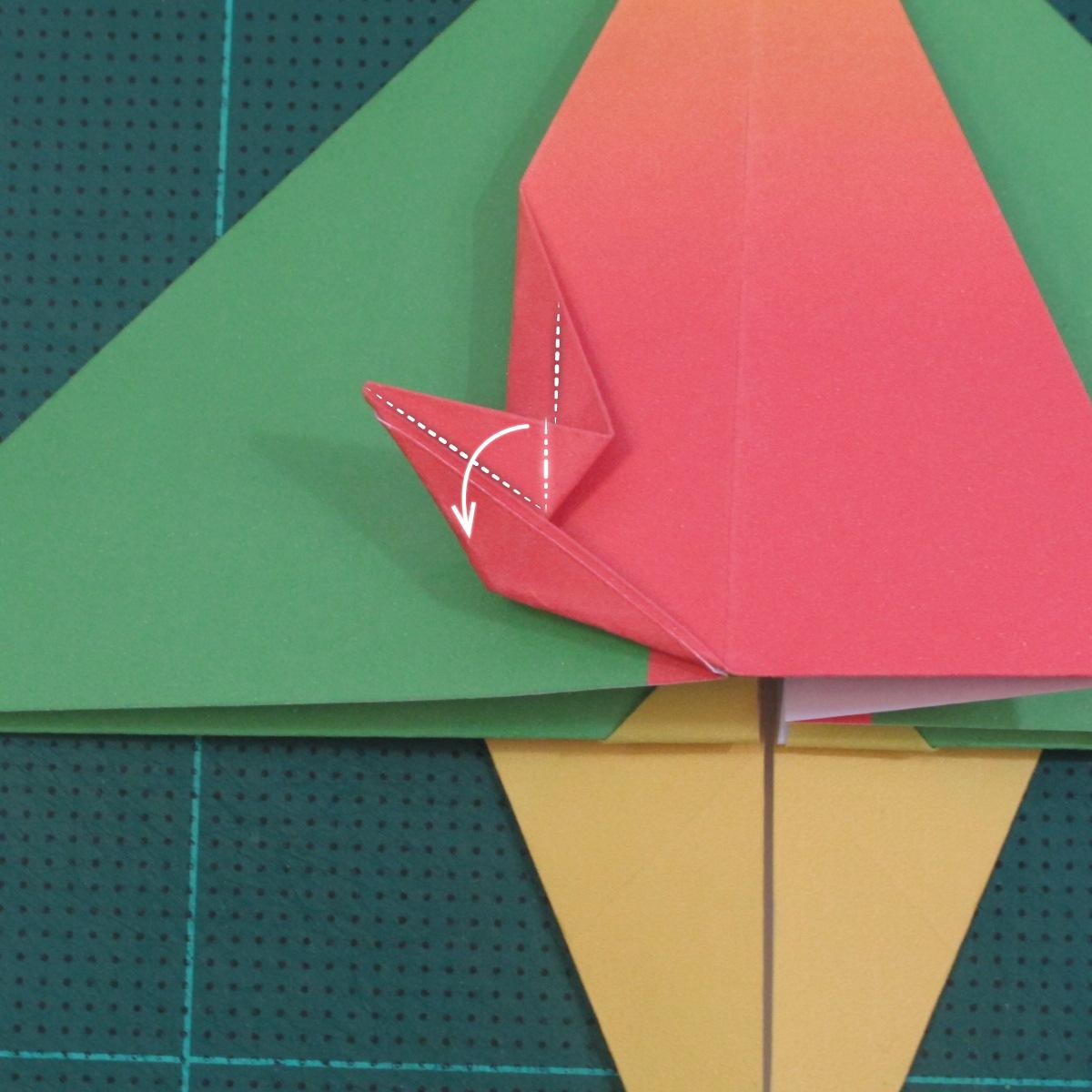 วิธีพับกระดาษเป็นรูปนกแก้ว (Origami Parrot) 021