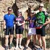 Biking to Parowan Gap petroglyphs after the Shakespeare festival in Cedar City