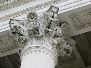 Marble House column