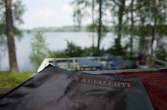 Reading at summer cottage