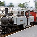 Ffestiniog Railway leaving Porthmadog Station