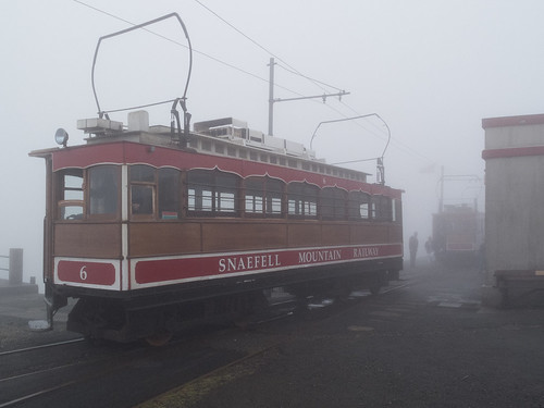 cloud train summit isleofman snaefell snaefellmountainrailway blindphotographers