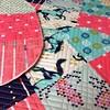 Working on some pretties! :) #cottonandsteel #rjrfabrics #aurifil