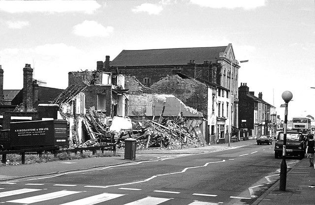 Bradshaw street to Shipton Street,a scene of destruction early 1970's Picture courtesy of David Clare.