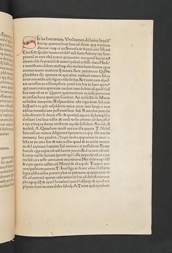 Penwork initial in Cicero, Marcus Tullius: De natura deorum et al.