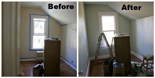 Kids room before after painting