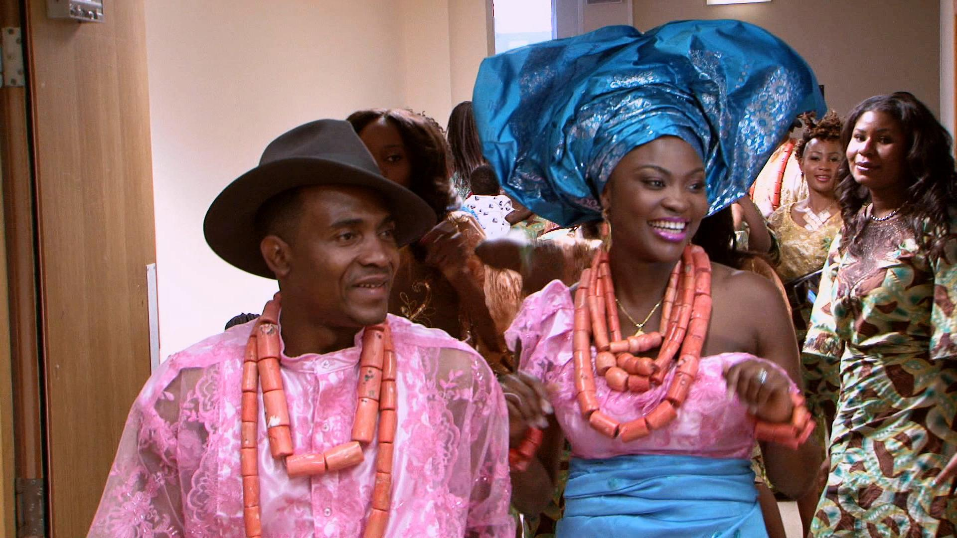 Filming nigerian wedding reception Portobello Films