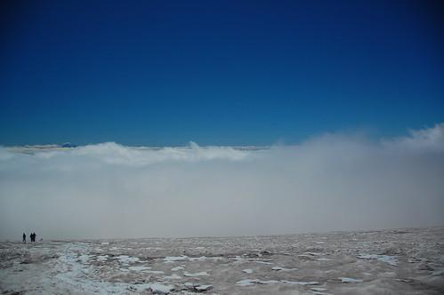 Clouds on Mount Rainier