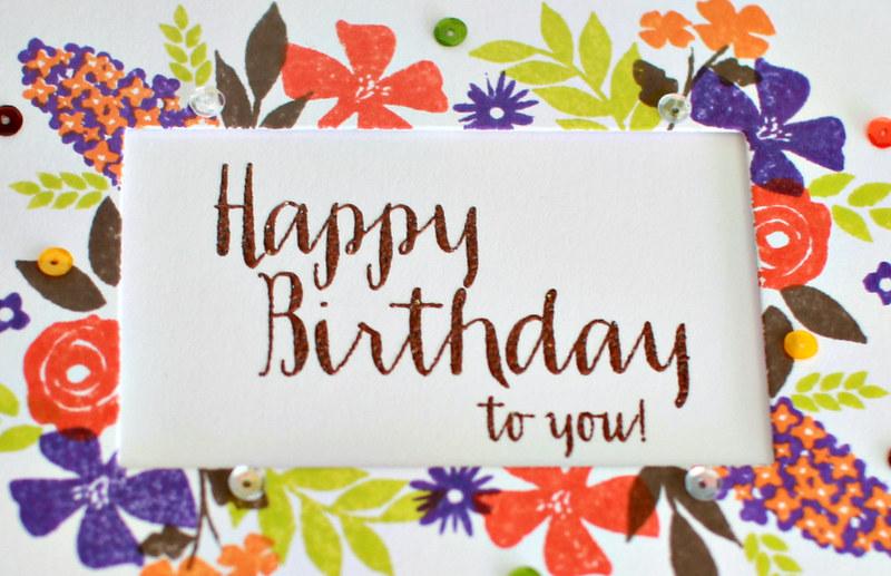 Happy Birthday to you closeup!