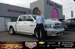 Congratulations to Carter Tims on your #Ram #1500 purchase from Tracey Frerich at Four Stars Auto Ranch! #NewCar