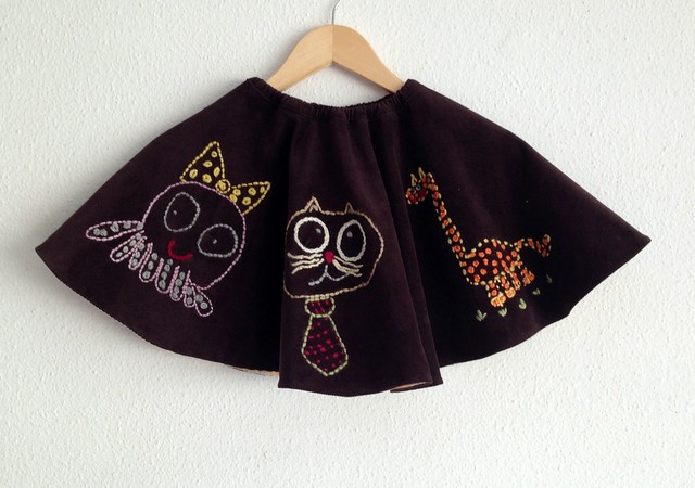 falda 6 años bordada