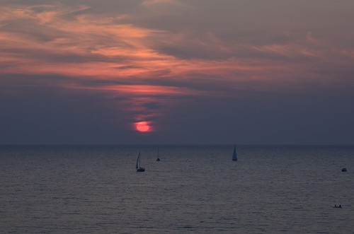 sunset ontario nikon cloudy sailboats sunsetpark bayfield d7000