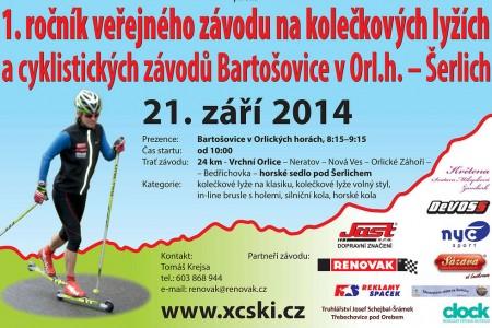 1.ročník závodu kolečkových lyží a cyklistického závodu - Bartošovice