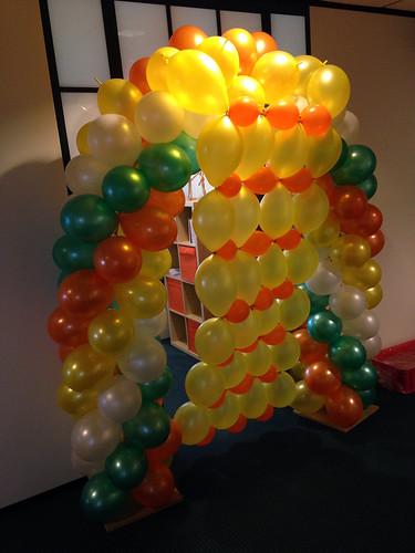Ballonboog 5m met Openingshandeling Doorprikken Link-O-Loons