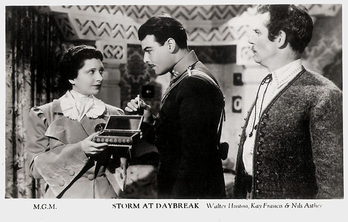 Nils Asther, Kay Francis and Walter Huston in Storm at Daybreak