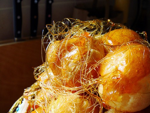 Making of Croquembouche: Delicate Spun Sugar