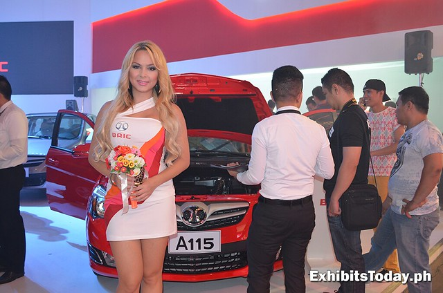 BAIC A115 with white girl car model
