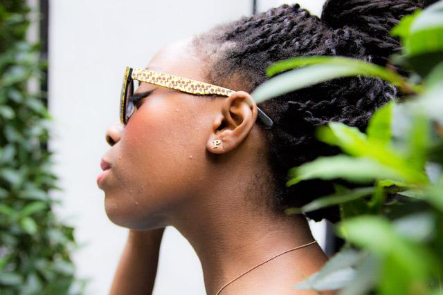 Triwa leopard print sunglasses