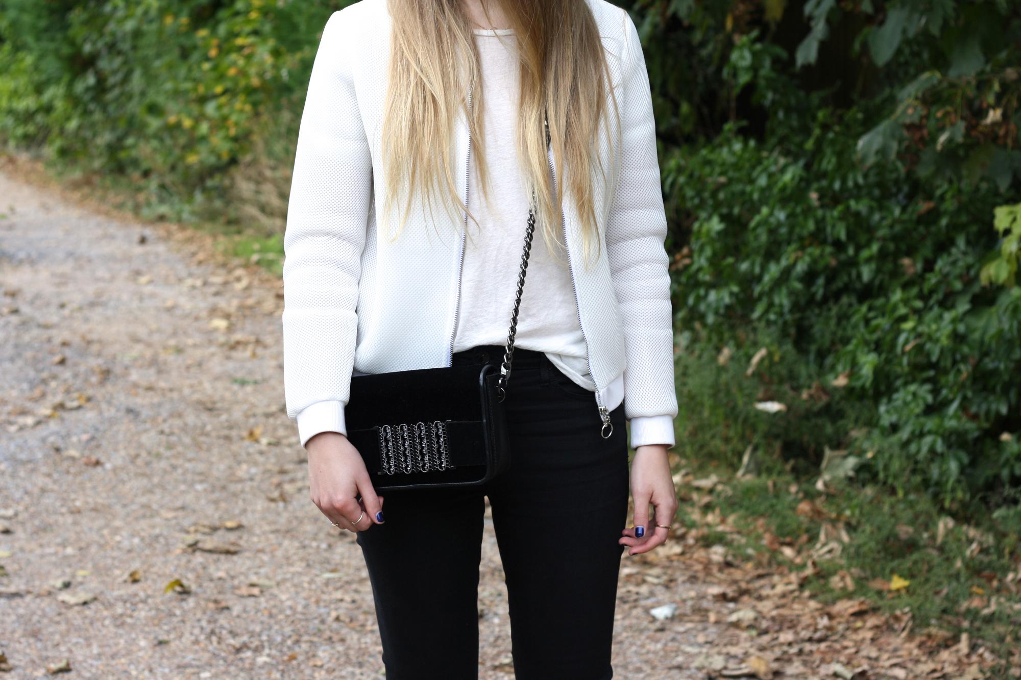 H&M velvet crossbody bag