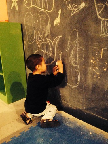 Drawing on the chalkboard