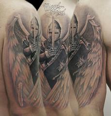 custom guardian angel tattoo miguel angel tattoo tags new flowers roses music black flower. Black Bedroom Furniture Sets. Home Design Ideas